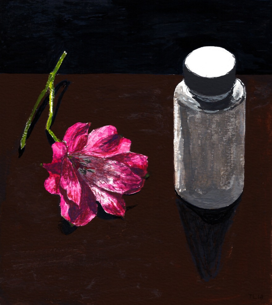 Alstroemeria and pill bottle scan